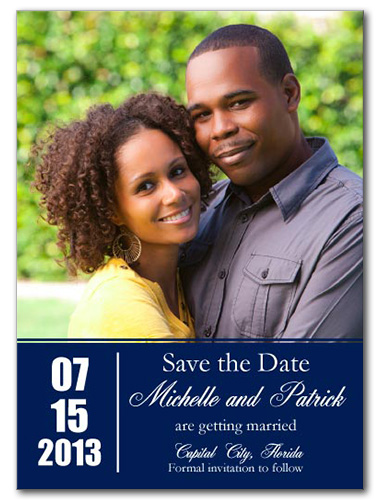 Modern Memory Save the Date Card