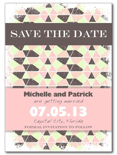 Modern Navajo Save the Date Card