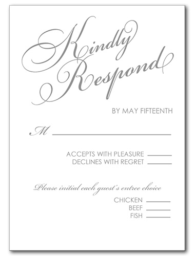 Mr. and Mrs. Response Card
