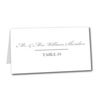 Mr. and Mrs. Table Card