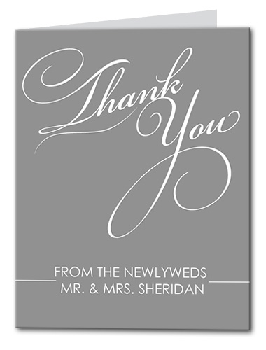 Mr. and Mrs. Thank You Card