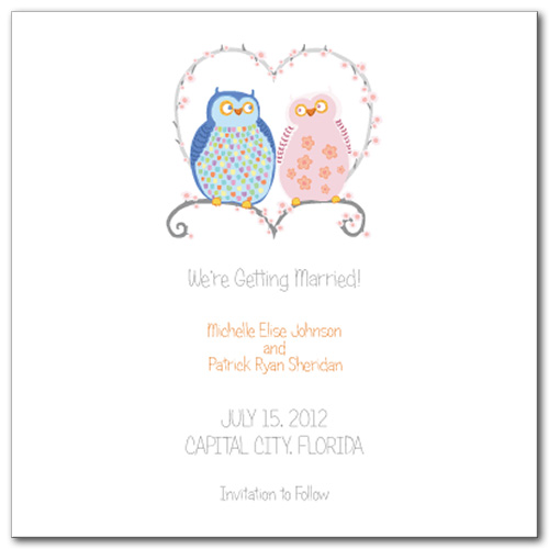 Natures Match Square Save The Date Card
