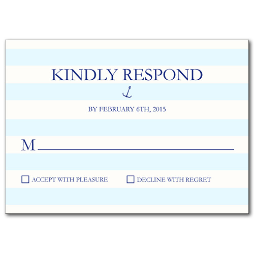 Nautical Stripes Response Card