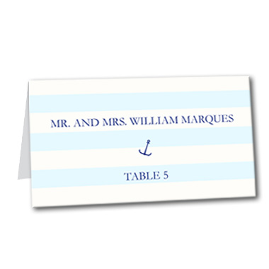 Nautical Stripes Table Card