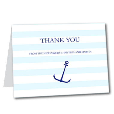 Nautical Stripes Thank You Card
