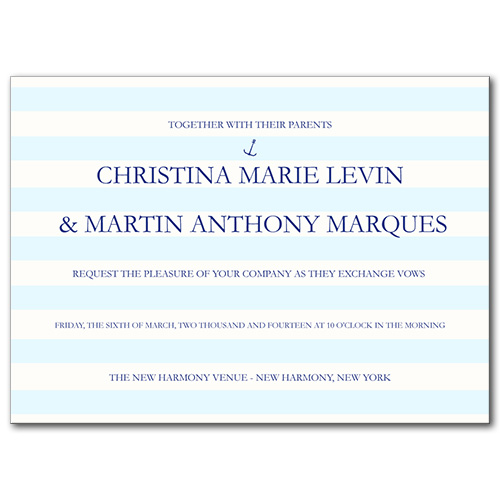 Nautical Stripes Wedding Invitation