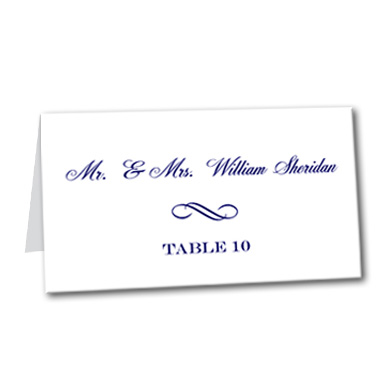 Navy Swirl Table Card