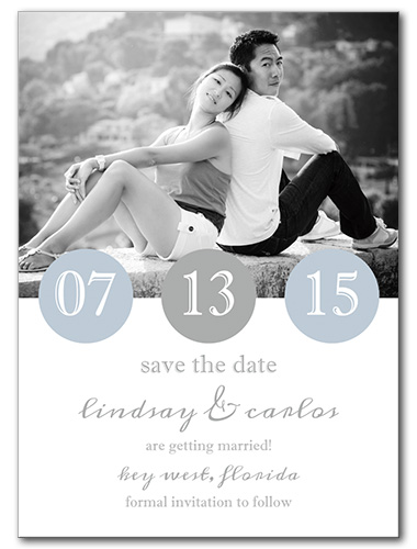 Numericals Save the Date Card
