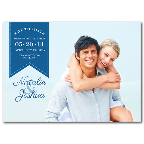Ocean Sunset Save the Date Card