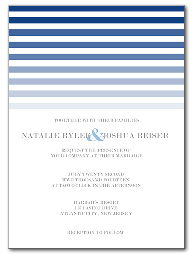 Ocean Sunset Wedding Invitation