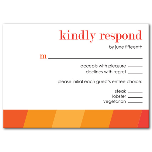 Ombre Fun Response Card