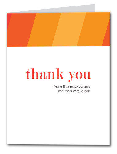 Ombre Fun Thank You Card