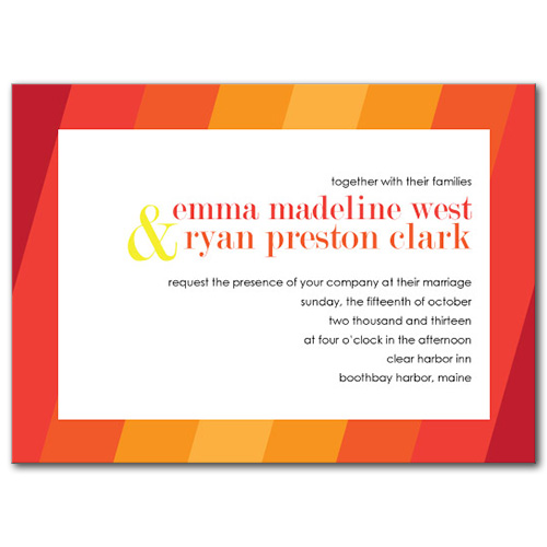 Ombre Fun Wedding Invitation
