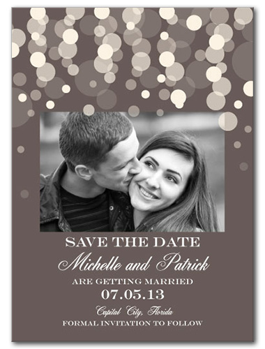Pearly Rainfall Save the Date Card