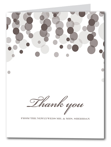 Pearly Rainfall Thank You Card