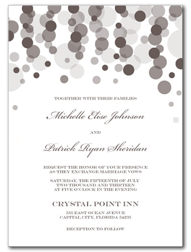 Pearly Rainfall Wedding Invitation
