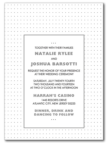 Petite Confetti Wedding Invitation