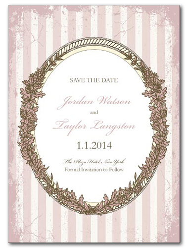 Pink Paris Save the Date Card