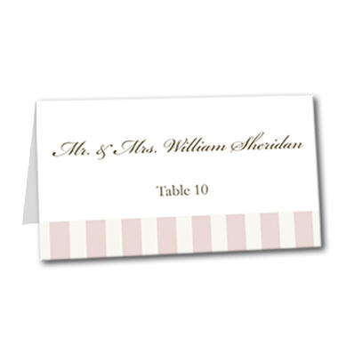Pink Paris Table Card