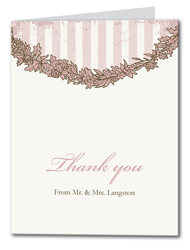 Pink Paris Thank You Card