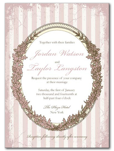 Pink Paris Wedding Invitation
