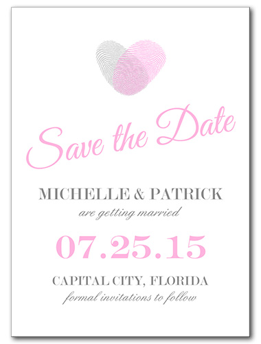 Pink Thumbprint Save the Date