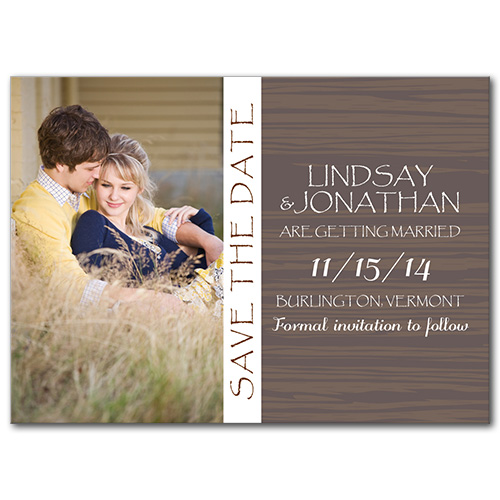 Playful Western Save the Date Card