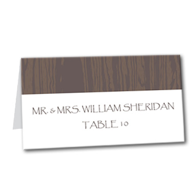 Playful Western Table Card