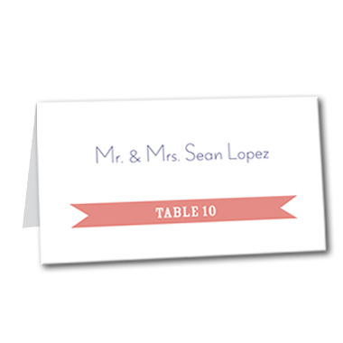 Playful Destiny Table Card