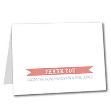 Playful Destiny Thank You Card