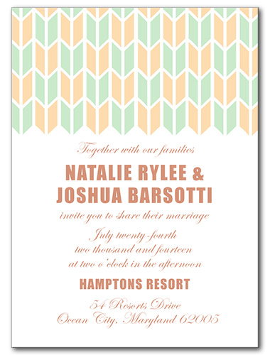 Plucked Wedding Invitation