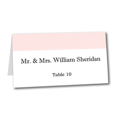 Posh Bliss Table Card
