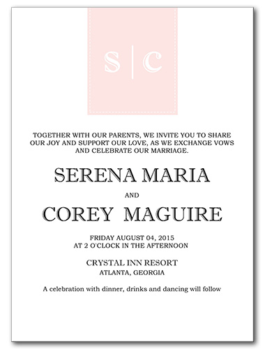 Posh Bliss Wedding Invitation