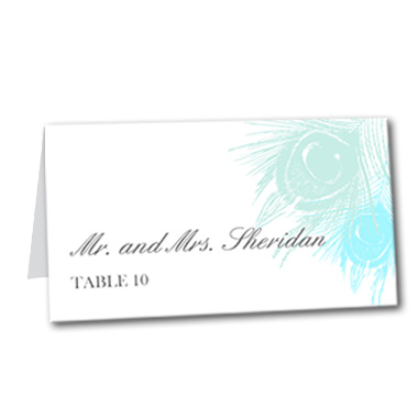 Precious Peacock Table Card