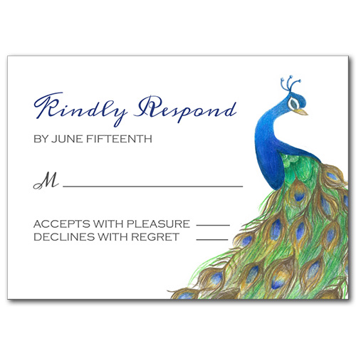 Pretty Peacock Response Card
