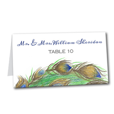 Pretty Peacock Table Card