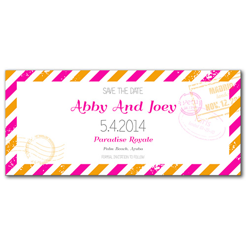 Pretty Postage Save the Date Card