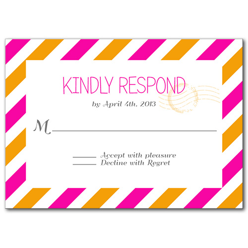 Pretty Postage Response Card