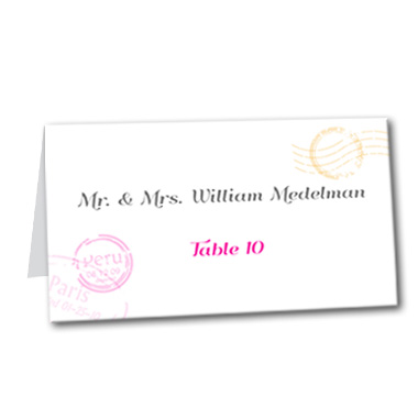 Pretty Postage Table Card