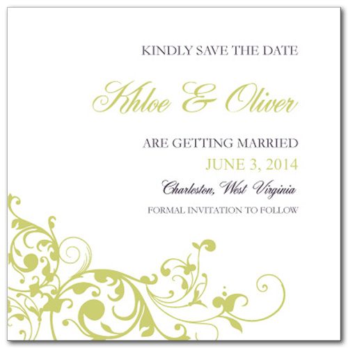 Pure Divine Square Save the Date Card