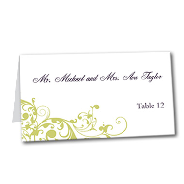Pure Divine Table Card
