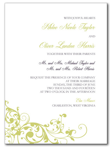 Pure Divine Wedding Invitation