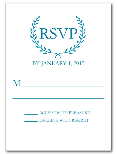 Quiet Monogram Response Card