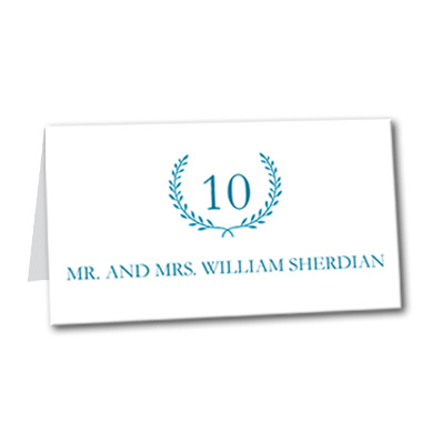 Quiet Monogram Table Card