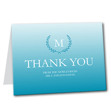 Quiet Monogram Thank You Card