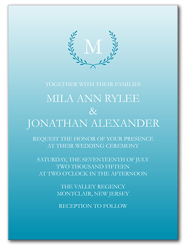 Quiet Monogram Wedding Invitation