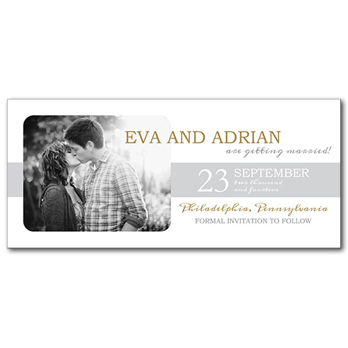 Radiant Sunshine Save the Date Card