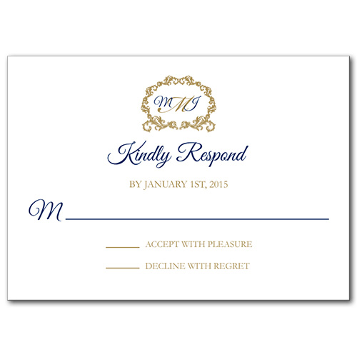 Regal Monogram Response Card
