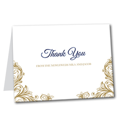Regal Monogram Thank You Card