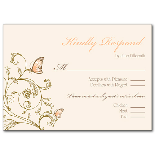 Resting Butterfly Response Card